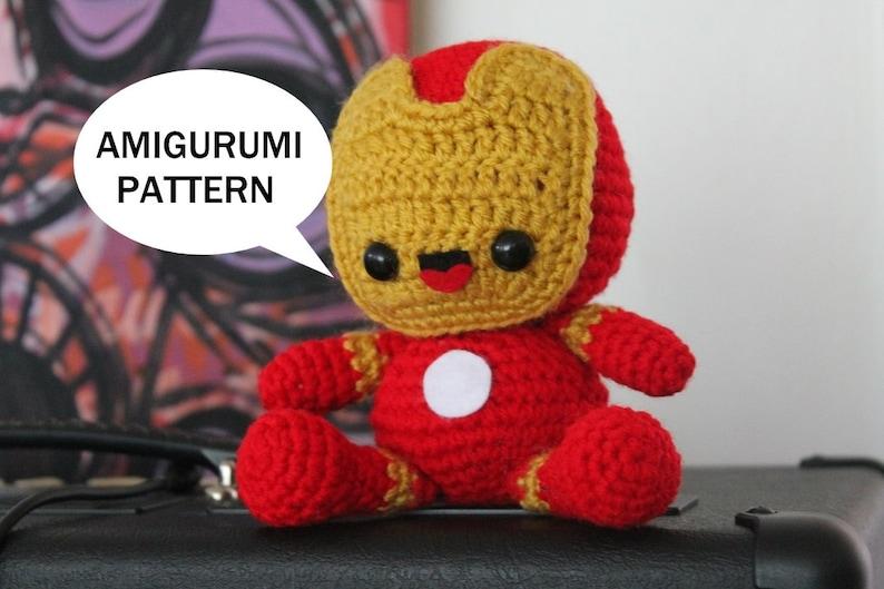 Ironman Inspired doll crochet pattern PDF pattern by YarrrnIt ... | 529x794