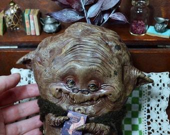 Granny Hazel - mandrake,  storyteller, granny, mandrakes, mandrágora, art doll, handmade doll,  whimsical, goblin, fairies, fairy, magical