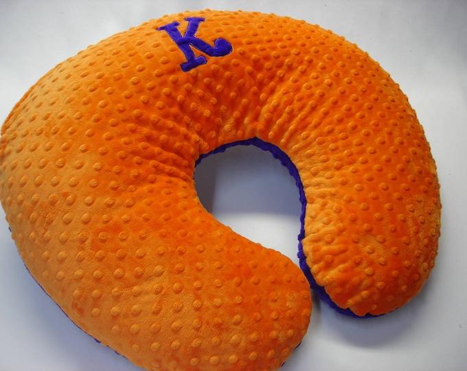 Nursing Pillow Cover Curlz Applique Letter