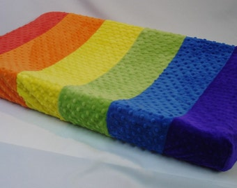 Rainbow Changing Pad Cover Multi Color Stripe