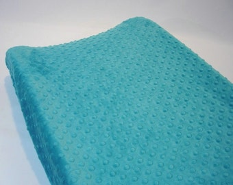 Azure Teal Blue Changing Pad Cover