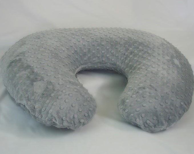 Gray Boppy Pillow Cover Nursing Pillow Silver