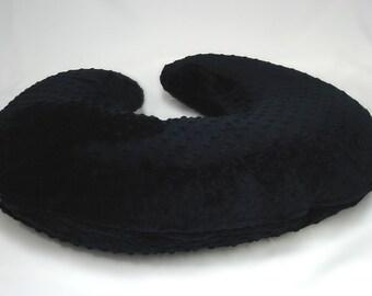 Black Boppy Pillow Cover Minky