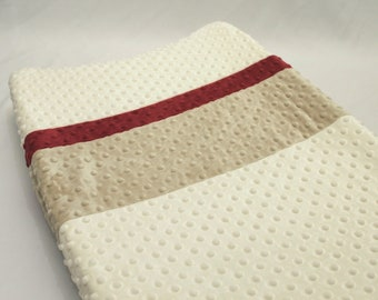 Ivory Color Blocked Changing Pad Cover