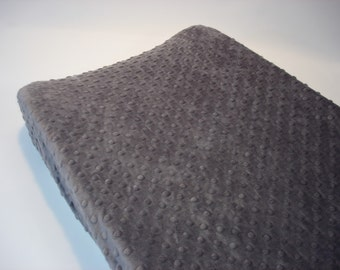 Steel Gray Changing Pad Cover