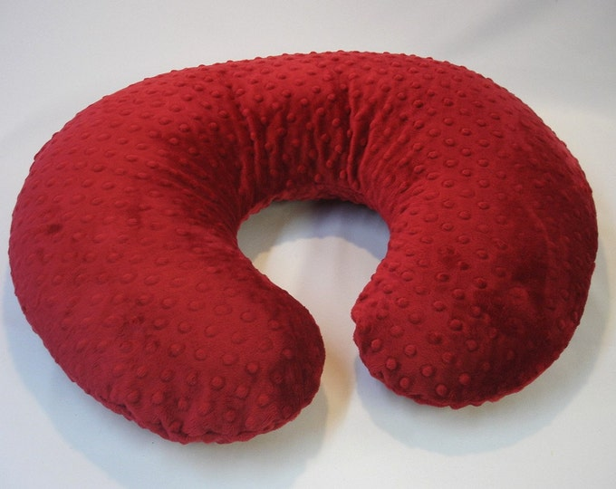 Red Nursing Pillow Cover Crimson