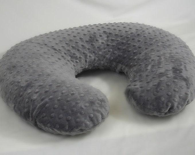 Steel Gray Nursing Pillow Cover