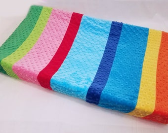 Serape Style Changing Pad Cover with Stripes