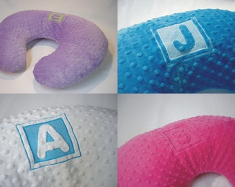 Personalized Embroidered Nursing Pillow Cover Initial