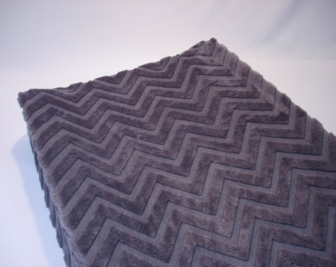 Changing Pad Cover Gray Chevron