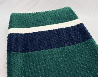 Emerald Green Changing Pad Cover with Stripes