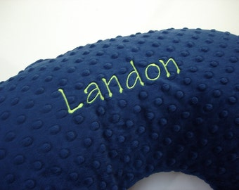 Personalized Embroidered Nursing Pillow Cover Tinker Toy Font