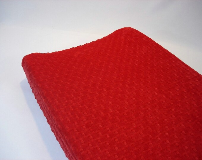 Ruby Red Changing Pad Cover