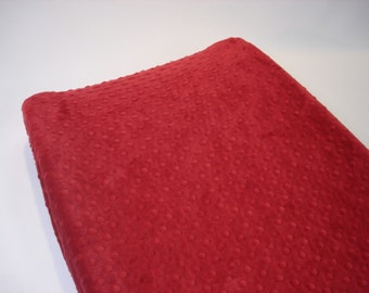 Crimson Red Changing Pad Cover
