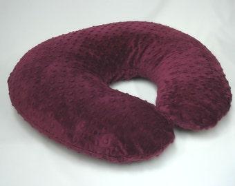 Maroon Red Boppy Nursing Pillow Cover