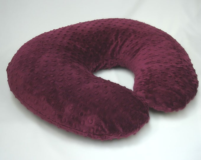 Raisin Maroon Red Nursing Pillow Cover