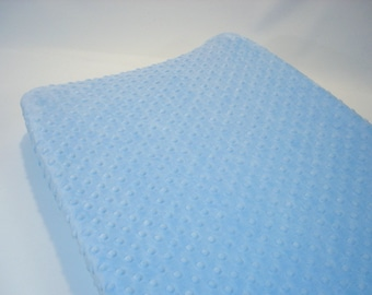 Baby Blue Changing Pad Cover