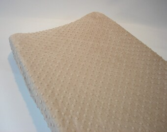 Latte Light Brown Changing Pad Cover