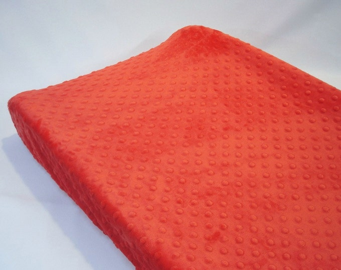 Cherry Red Changing Pad Cover
