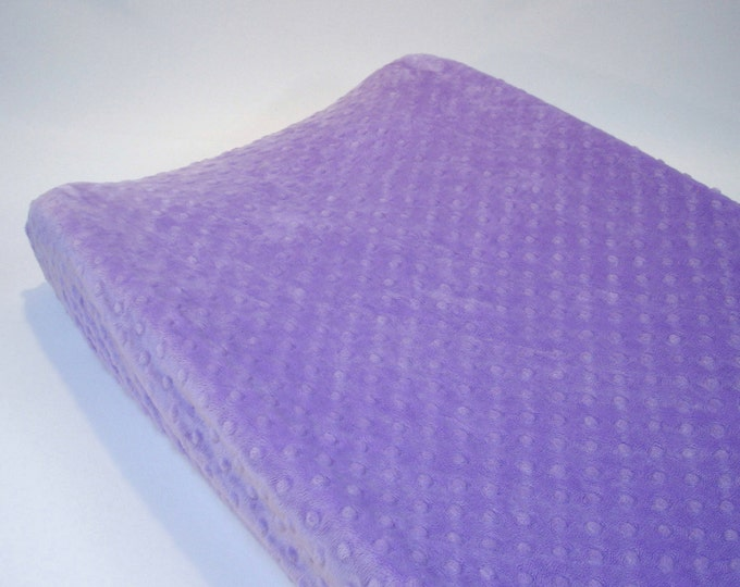Lilac Purple Changing Pad Cover