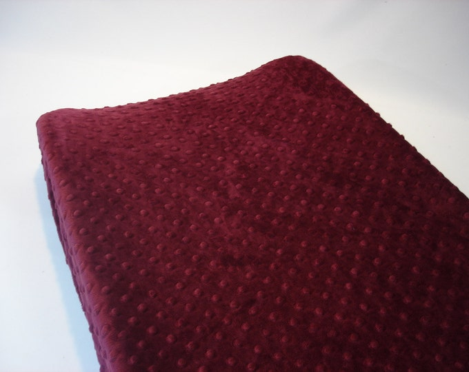 Maroon Changing Pad Cover Raisin Red