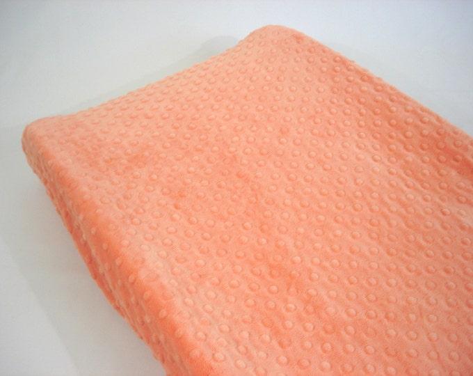 Orange Changing Pad Cover Peach