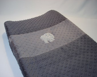 Minky Changing Pad Cover with Elephant
