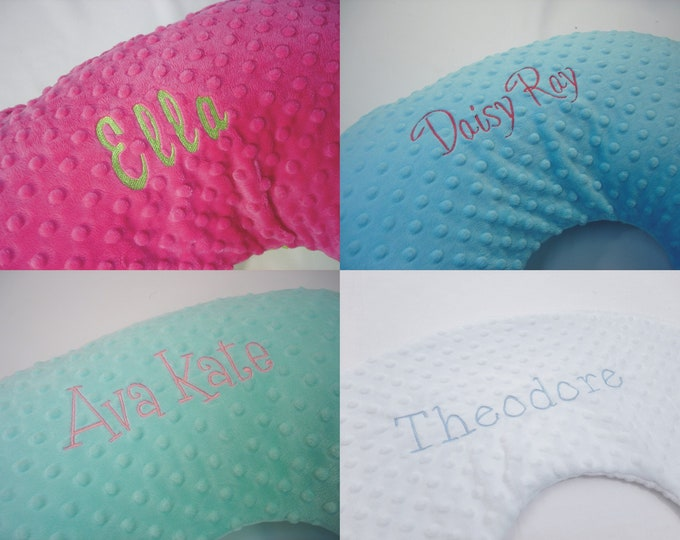 Personalized Embroidered Nursing Pillow Cover