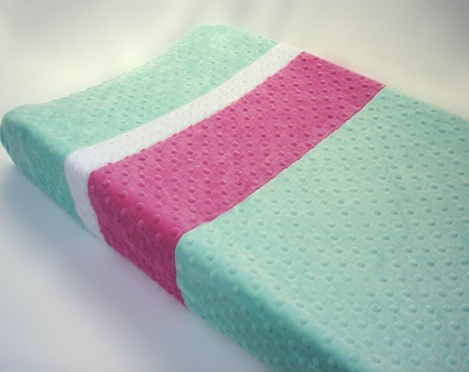 Changing Pad Cover with Custom Color Stripes
