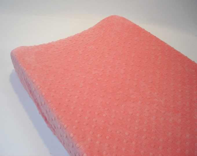 Coral Changing Pad Cover Pink