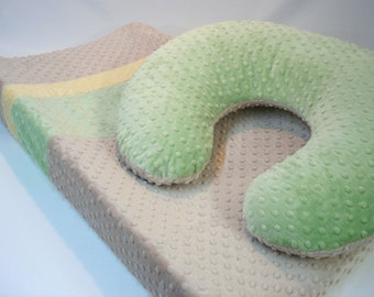 Changing Pad Cover and Boppy Pillow Cover Set Three Color