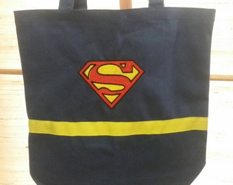 Personalized Superman tote bag with cape