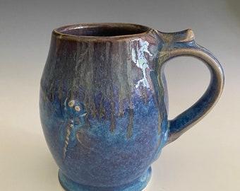 Handmade Pottery Mug; Pottery Mug; Handmade Mug; Dragonfly Mug