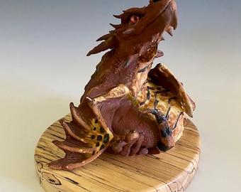 Handmade Dragon; Dragon; Pottery Dragon