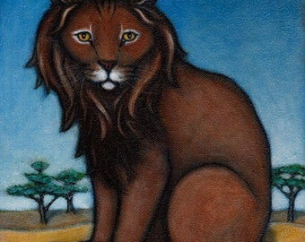 Lion.  8 x 10 print