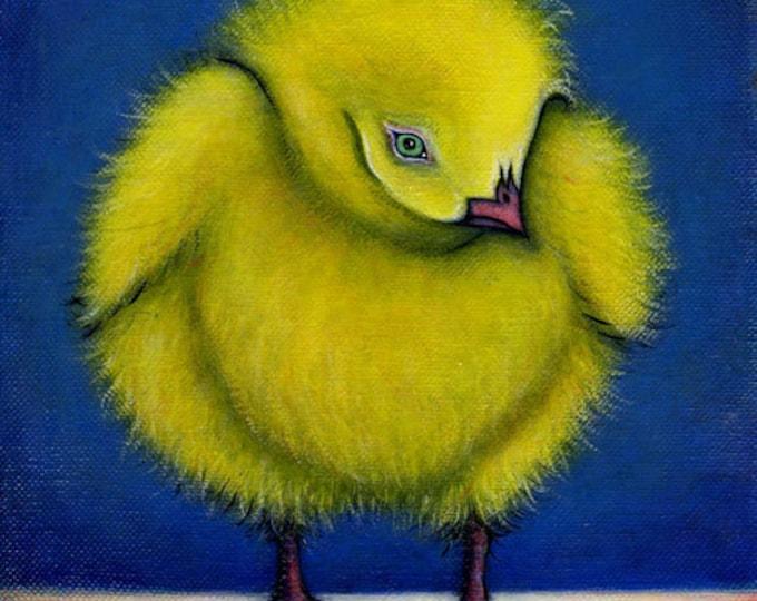 Fuzzy Chick.  Archival 8.5x11 print