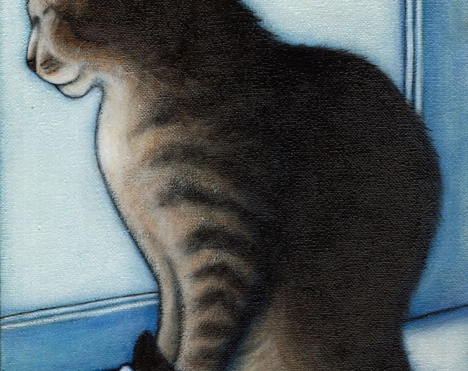 Oliver in the Window.  Archival 8.5x11 cat print
