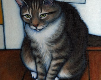 Your favorite Cat: Commission an original 11x14 oil painting