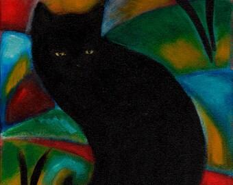 Black Cat.  Archival 8.5x11 print