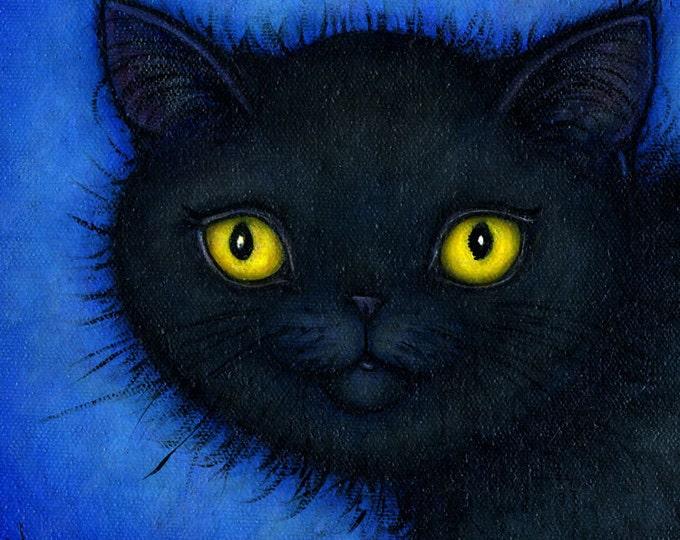Black Cat  Archival 8.5x11 print