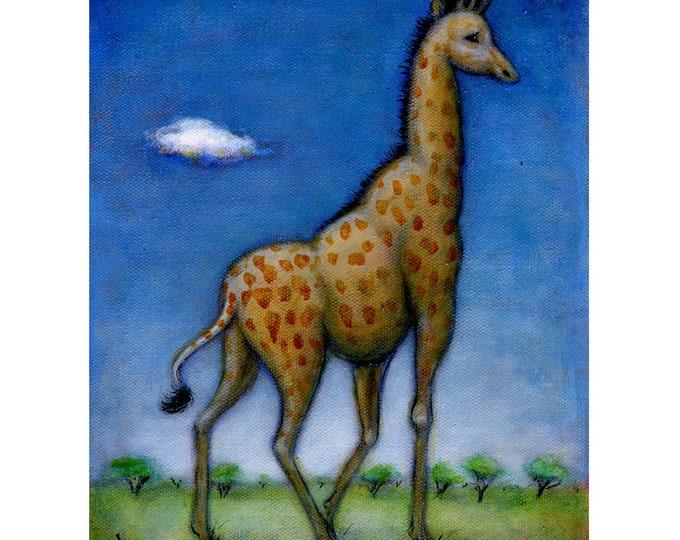 Giraffe original oil painting