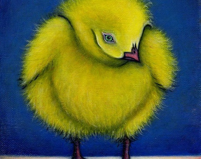Fluffy Chick.  8 x 10 print