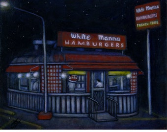 White Manna Hamburgers.  Archival 8.5x11 print