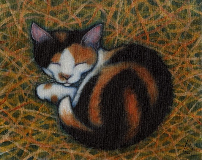 Calico Barn Cat 8x10 art print