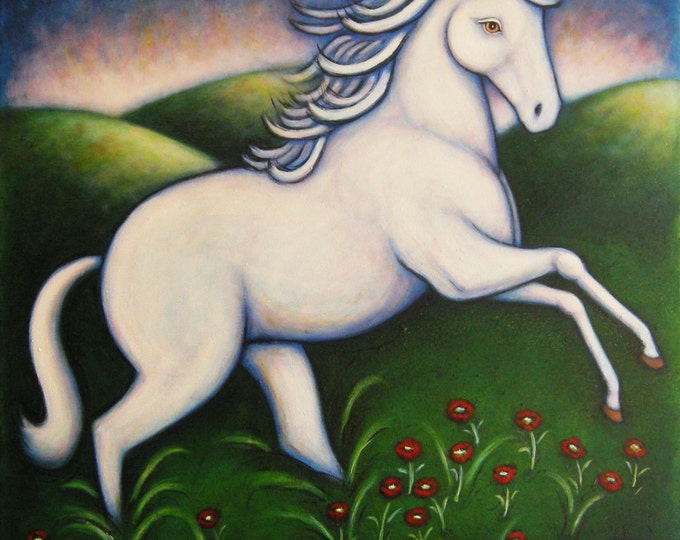 Unicorn original oil painting by Heidi Shaulis