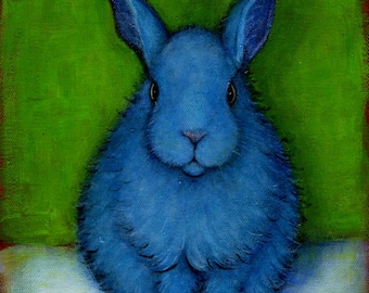 Blue Bunny.  8 x 10 print