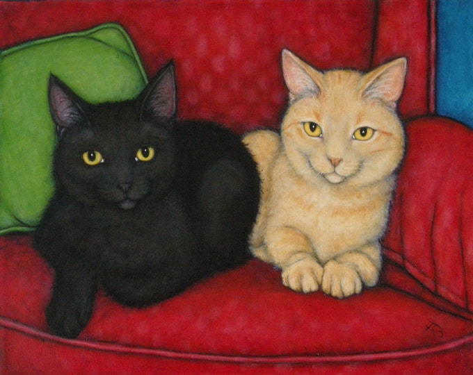 Commission an original 16x20 oil painting of Your Cats