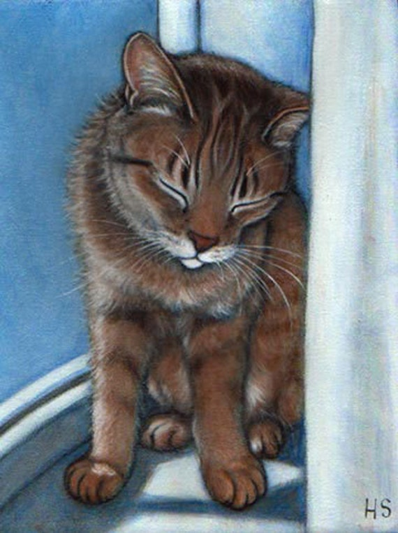 Your favorite Cat: Commission an original 8x10 oil painting