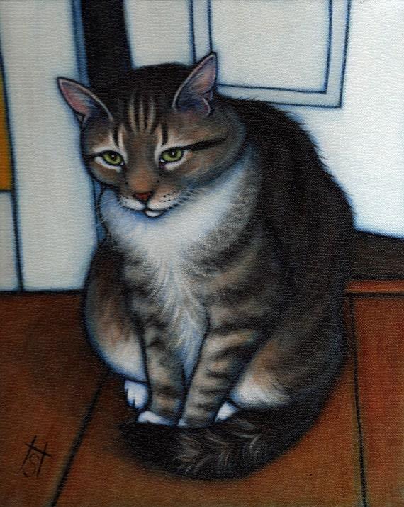 Your favorite Cat: Commission an original 11x14 oil painting