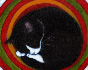 20 Assorted Cat Art blank cards; your choice